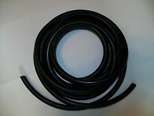 5 feet Black 1/4 I.D x 1/8 Wall x 1/2 O.D Latex  Rubber Tubing Thick wall heavy