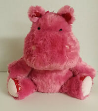 Hallmark Hippo Lola Plush Pink Talking Stuffed Animal 6277 pink red heart love