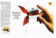 Publicité Advertising 1993 (2 pages) Film Diapositives Kodak Ektachrome Elite
