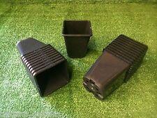 50 X Quadrato Plastica da 1 litri per piante vasi quadrato rotondo nero di qualità superiore