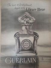1961 L'Heure Bleue Perfume Bottle by Guerlain Hour Enchantment Ad