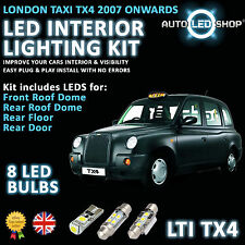 LONDON TAXI LTI TX4 SMD LED INTERIOR FULL KIT SET LIGHT BULBS XENON WHITE