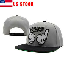 USA STOCK Unisex Fashion Snapback Hat Cotton Hip-Hop Hat Adjustable Baseball Cap
