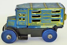 "30'S LOUIS MARX AMERICAN TRUCKING CO. TIN LITHOGRAPHED TRUCK TOY 5.5"" VERY RARE"