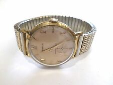 Vintage Mens Classic Swiss BENRUS 20 Micron Gold Plated Steel hand-winding Watch