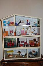 Vintage LUNDBY 4 Levels Doll House & Accessories PACKED FULL Stunning See & BUY