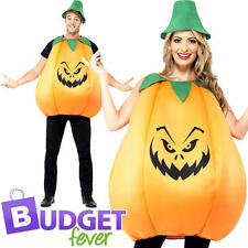 Spooky Large Pumpkin Adults Fancy Dress Halloween Food Mens Ladies Costume New