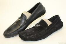 MISMATCHED MATERIAL Prada NEW Mens UK 8 US 9 Italy Made Loafers Shoes wq