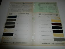 1939 HUDSON TERAPLANE PAINT CHIP CHART COLORS SHERWIN WILLIAMS PLUS MORE