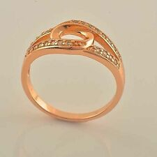 Unique Fashion Jewelry 9K Rose Gold Filled CZ Womens Ring Size 7 Hot Sell