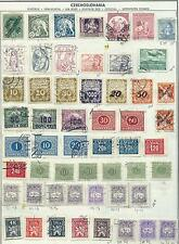 Czechoslovakia - 107 stamps mixed - Years 1918 to 1972...All B.O.B.