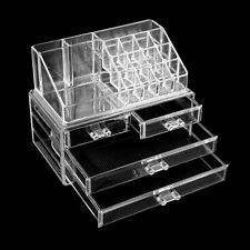 Clear Acrylic Makeup Case Cosmetic Organizer Drawers Holder Jewelry Storage Box