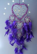 Dream catcher purple heart silver detail dreamcatcher medium