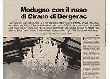 GA33 Clipping-Ritaglio 1972-  Domenico Modugno