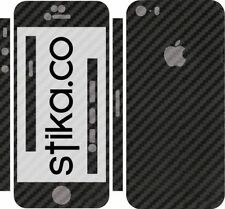 Black Carbon Fibre Full Body Skin Sticker Kit for Apple iPhone 5, 5S, SE