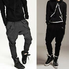 Men Black Casual Harem Baggy Hip Hop Dance Sport Sweat Pants Slacks Trousers NEW