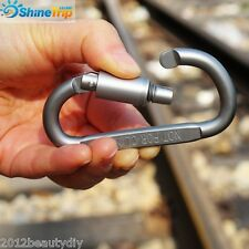 Mini Al Carabiner Snap Spring Clips Hook Keychain EDC Survival