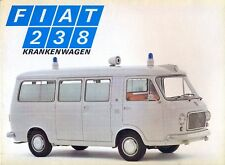 Fiat 238 Ambulance Krankenwagen German market sales brochure - white