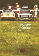 Fiat 128 Sport Coupes 1100SL 1300SL UK Market Brochure 1972 12 Pages # 50m/10/72