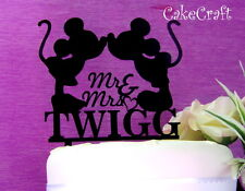 Acrylic  Mickey Minnie Mouse Wedding, anniversary cake topper decoration