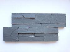 Musterstück der Naturstein Schiefer Wandverblender anthrazit  Riemchen 18x35cm