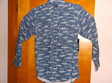"BRAND NEW  MEN'S ""PIGMENT DYE PRINT""  CASUAL SHIRT  by GEORGE ...SIZE..LARGE"