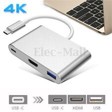 3 in1 USB Type C Male to HDMI Charging Converter Type C HDMI HUB USB 3.1 Adapter