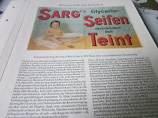 Wien Archiv 10 Wirtschaft 5081 Sarg´s Glycerin Seifen