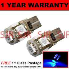 W5W T10 501 CANBUS ERROR FREE BLUE 5 LED SIDELIGHT SIDE LIGHT BULBS X2 SL101303