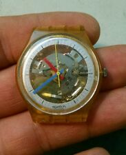 Vintage Rare 1985 Swatch watch needs battery see through