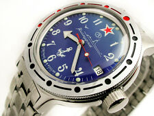 NEW RUSSIAN VOSTOK 2416B AUTO AMPHIBIAN WATCH 420289 AMPHIBIA MAVY SUBMARINE