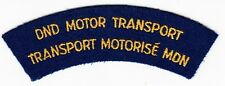 DND MOTOR TRANSPORT / TRANSPORT MOTORISE MDN - Vintage CANADA SHOULDER TAB PATCH