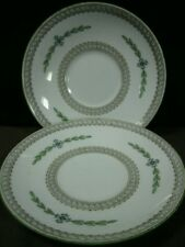 (2) Elegant Minton England Bone China Hand Painted Kent Patterned Saucers