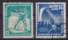 DDR Mi Nr. 298 - 299, gest., Wintersportmeisterschaften 1952, used