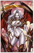 LADY DEATH WICKED EDITION ART PRINT - PAOLO PANTALENA & SIGNED  BRIAN PULIDO