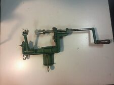 VINTAGE CAST IRON APPLE PEELER VERY GOOD CONDITION GREEN!
