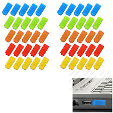10 set of 6 Color RUBBER SILICONE ANTI-DUST USB PLUG COVER STOPPER for PC Laptop