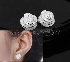 Hot Promotion Chic  Silver Cherry Stud Earrings Fashion Gift Jewelry