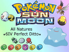 ANY 6 ★Shiny★ Ditto 6IV Perfect Breeding Natures Pokemon Sun Moon Sole Luna Sol