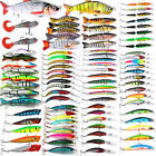 Mixed Minnow Fishing Lures Bass Bait Crankbait Treble Hook Assorted Hard Tackles