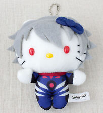Evangelion Nagisa Kaworu Hello Kitty Plush Doll Figure Sanrio JAPAN ANIME MANGA