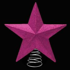 Christmas Decoration Glitter Tree Top Star on Spring (DP) - Cerise