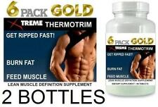 2x 6 Pack Fat Burner Lean Muscle Mass Growth Bodybuilding Burn Fat X Ripped Abs