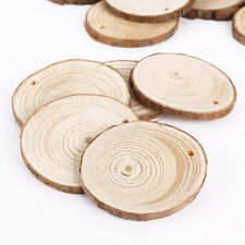 25pcs Natural Rustic WOODEN DISCS with Bark Surround CRAFT or HOME DECOR Round