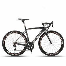 SAVA HERD 5.0 700C Road Bike 2x11 Speed Carbon Fiber Bicycle Shimano 5800 Black