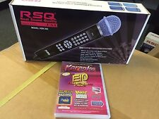 RSQ HSK-202 Karaoke Mic MP3+G Player Chartbuster Essential 450 Volume 10 SD CARD