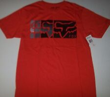 New Fox Riders Racing red orange HAZED short sleeve t shirt sz SMALL S