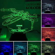 Star Wars Galaxy X-Wing LED 3D Illusion Light Micro USB Battery Lamp Home Decor