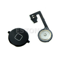 Black Home Back Button Menu Key With Repair Part Flex Cable For iphone 4S