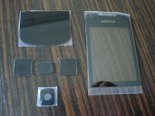 nokia 8800 arte black front screen glass bottom glass set  6 piece set
